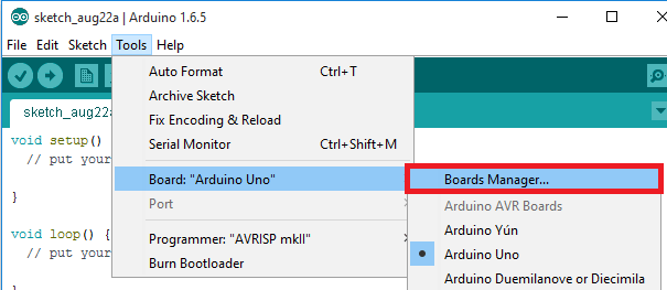 Arduino-boards-manager