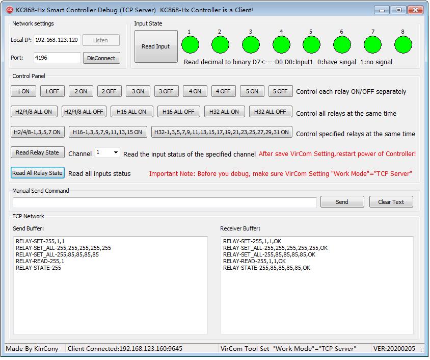 TCP Server Debugger