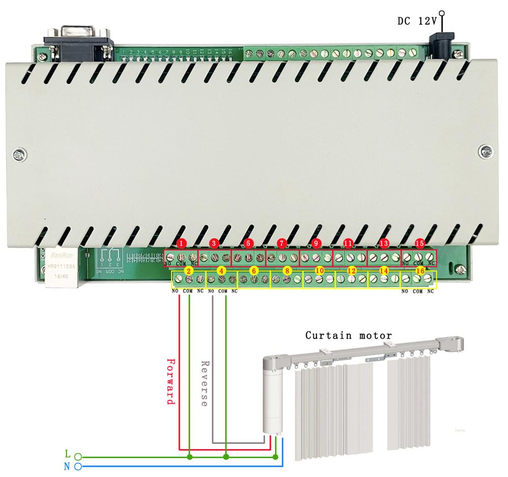16 relay motor