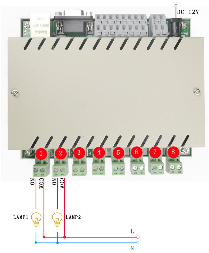 8 relay lamp